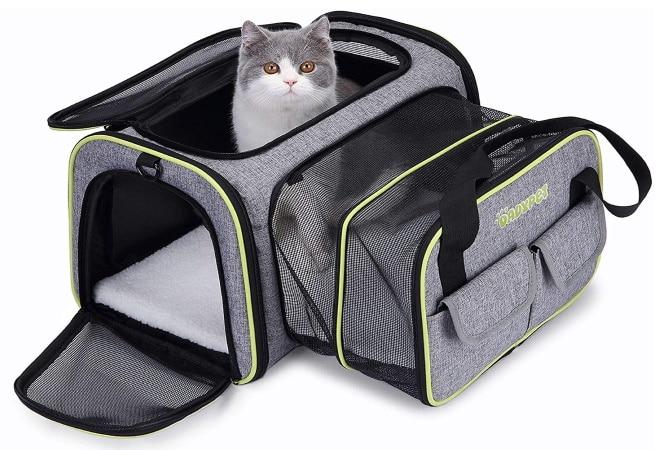 Caisse de transport pour chat DADYPET Extensible Souple Pliable avec tapis TOP 5