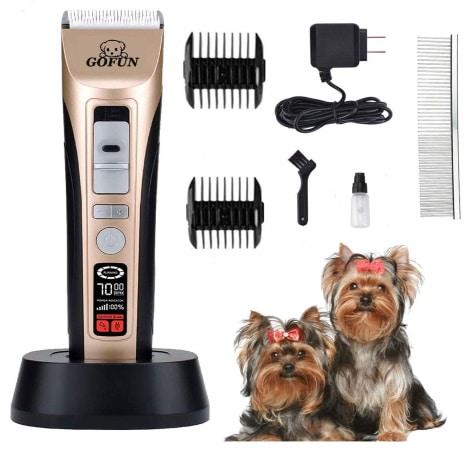 Tondeuse chien sans fil rechargeable écran lcd GOFUN top 5