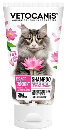 Shampoing pour chat USAGE FRÉQUENT chaton sans silicone ni paraben VETOCANIS top 5