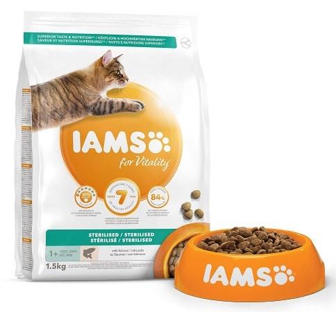 Croquettes pour chat stérilisé IAMS pas cher