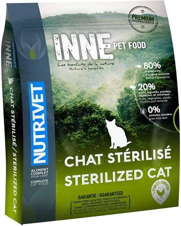 Croquettes sans céréales pour chat stérilisé NUTRIVET INNE 6 Kg PET FOOD