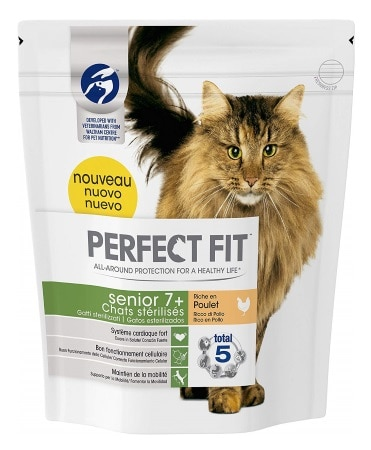 Croquettes pour chat stérilisé PERFECT FIT senior