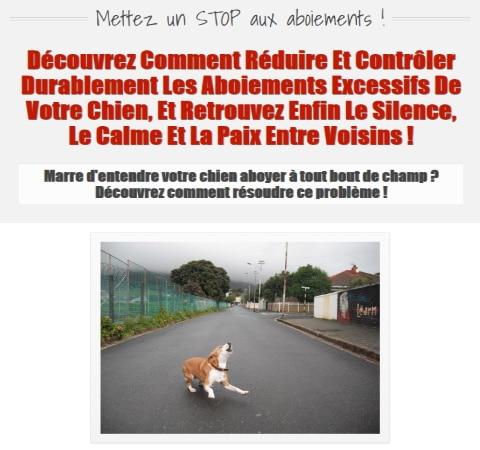 Ebook pour dresser son chien STOP AUX ABOIEMENTS top 4