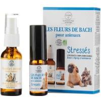 Fleur de Bach anti stress pour animal de compagnie, chien ou chat, afin d'être moins stressé grâce à ce spray contre angoisse et anxiété