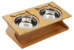 Gamelle chat bois et bols en acier inoxydable ou céramique et alimentation support surélevé incliné, chaton manger lentement top6