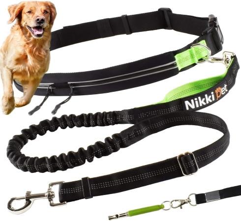 Laisse pour chien jogging et course à pied, type canicross et running avec votre animal de compagnie, 130 cm et ceinture abdominale top5