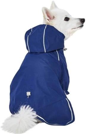 Manteau pour chien imperméable avec capuche, petit à grand taille animal, veste contre pluie extérieur avec trou pour harnais promenade