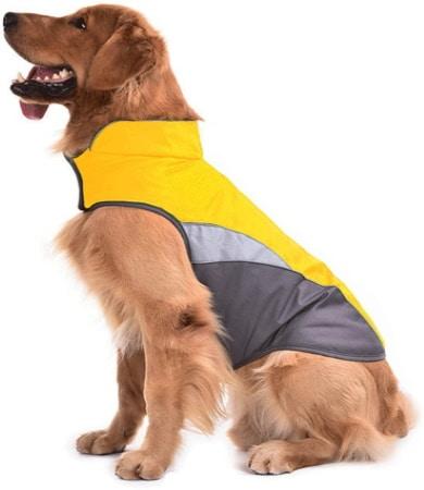 Manteau pour chien pas cher coupe vent réfléchissant, pour garder au chaud son animal de compagnie et empêcher la pluie étanche