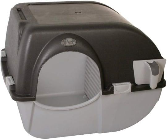 Bac à litière autonettoyant manuel chat pas cher et de grande taille anti-odeur avec nettoyage facile à petit prix OMEGA PAW top3