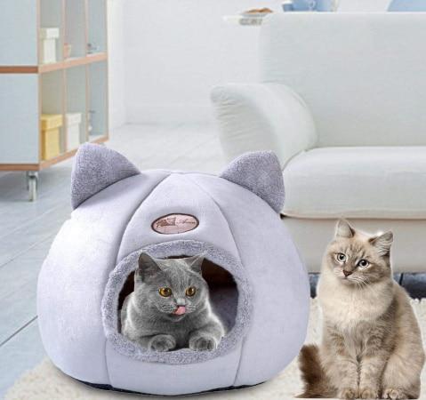 Niche à chat pliable maison intérieur résistant et chaud, facile à nettoyer et lavable, top5