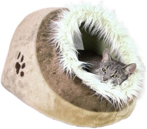Niche à chat design abri douillet pour minou coussin rembourré fourrure, pour maison intérieur TRIXIE top5