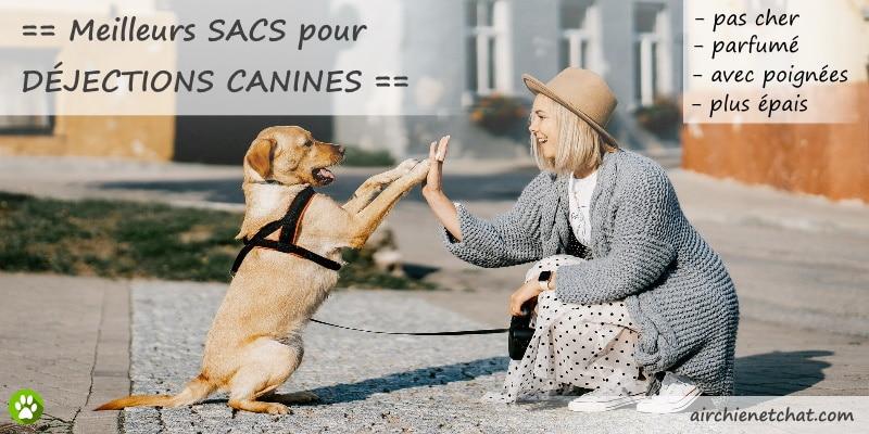 Meilleurs sac déjection canine, pour ramasser les crottes de son chien ou chiot, afin d'avoir une propreté animale, poches à caca bio et écologique