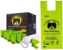 Sac à crotte chien avec poignées, propreté animaux et déjections canines, matière végétale compostable, chiots et canins, ramasse caca propre non parfumé