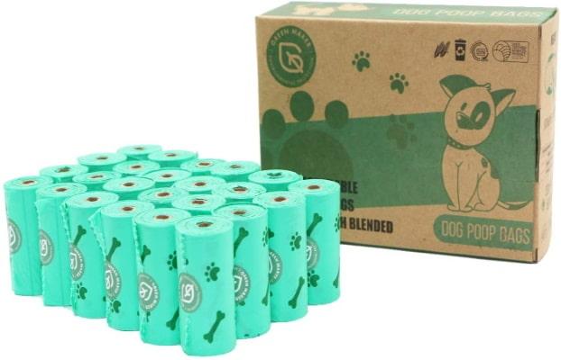 Sac à caca chien épais bio et écologique, à la fois compostable et biodégradable, pour excréments animaux canins et chiots, pour propreté canine