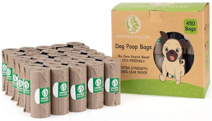 Sac à caca chien pas cher, rouleaux de poches épaisses et résistantes, 100% anti fuite et biodégradable, pour déjection chien et propreté chiot
