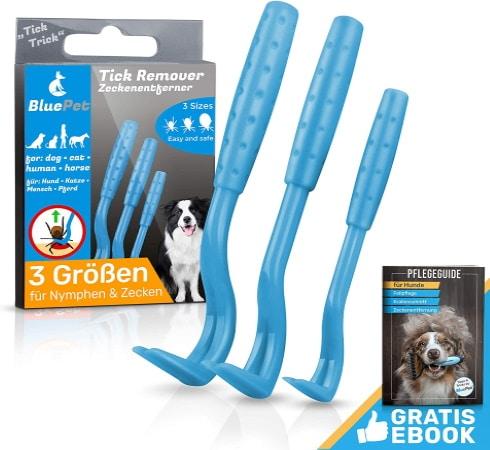 Ensemble de tire tique pas cher en plastique avec ebook offert, pour chien, chiot, ou tout autre animal de compagnie